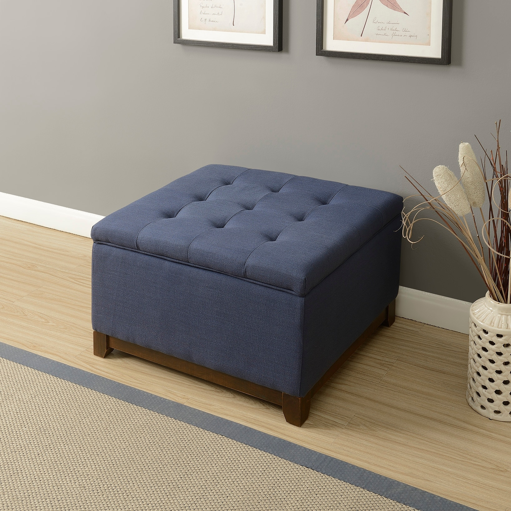 tufted amazon beige mission fabric com best kitchen dp ottoman with storage dining bench selling