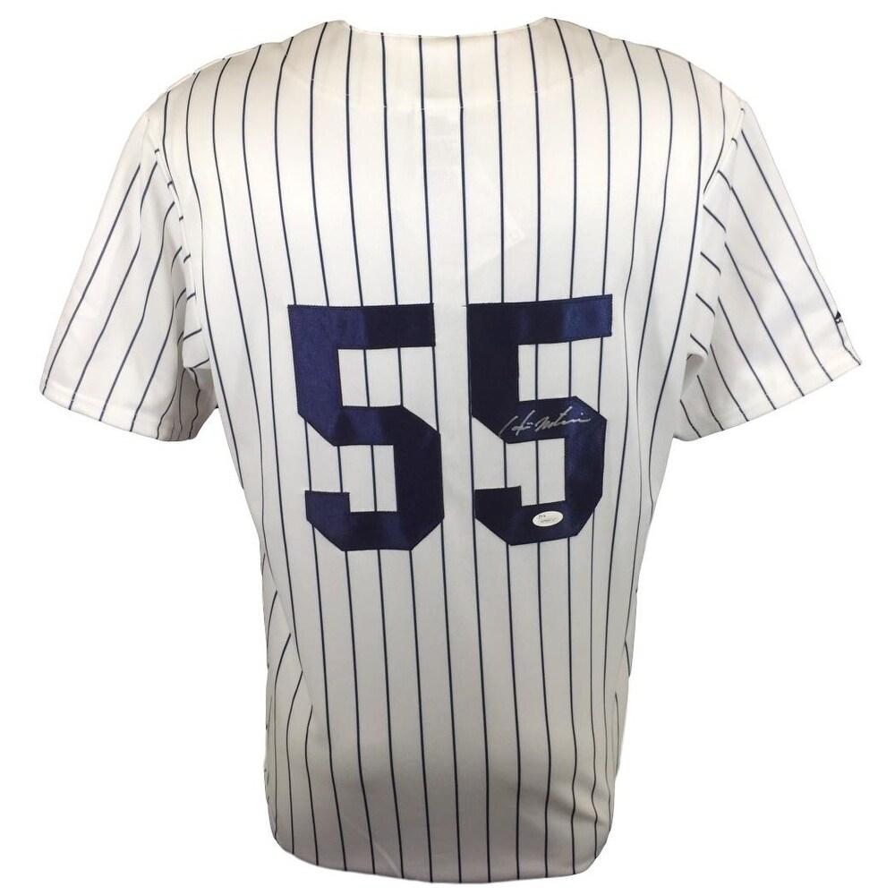 Hideki Matsui Signed New York Yankees Majestic Replica Pinstripe Jersey JSA  ITP a027994b8c5