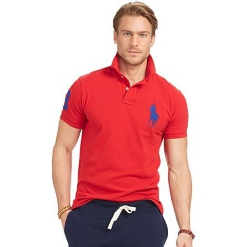 Shop Polo Ralph Lauren Men\u0027s Custom-Fit Big Pony Mesh Polo Red Size Extra  Large - Free Shipping Today - Overstock.com - 20525789