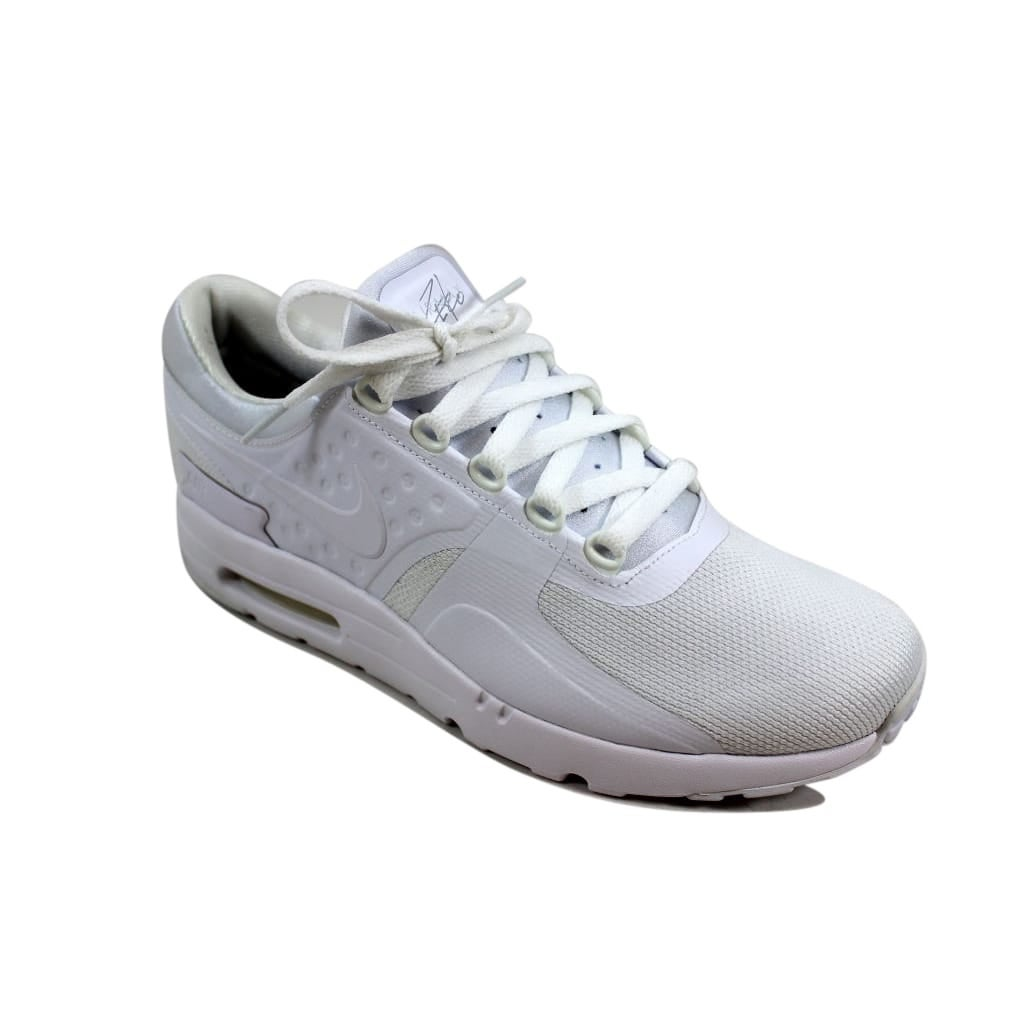 quality design 12ca1 cfe6b Shop Nike Men s Air Max Zero Essential White White-Wolf Grey 876070-100 -  Free Shipping Today - Overstock - 24015327