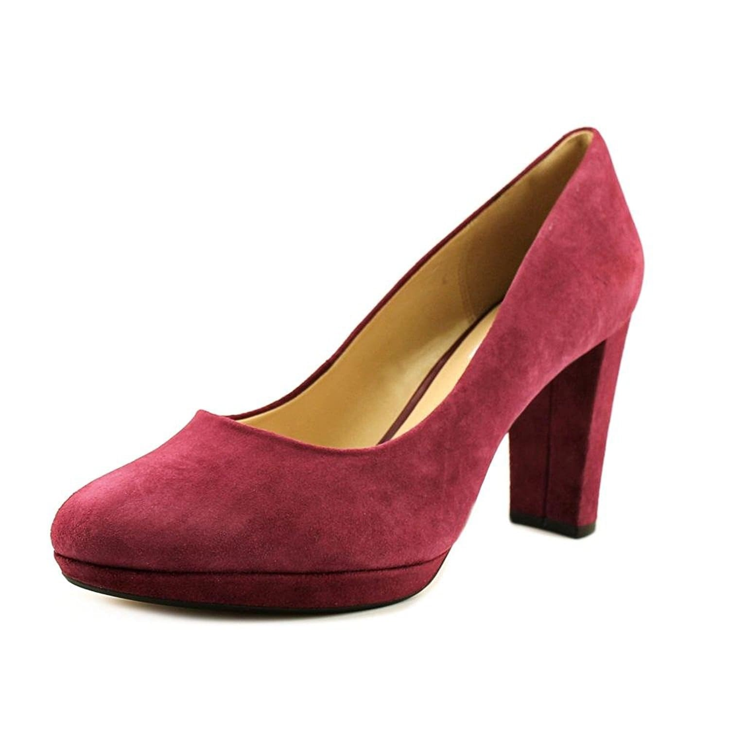 ba464db5e4f1 Shop CLARKS Womens Kendra Sienna Leather Closed Toe Platform Pumps ...