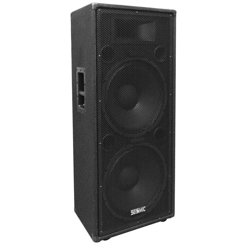 Seismic Audio Pair Of Dual 15 Pa Dj Speaker Cabinets With Anium Horns Wheel Kit And Handle Free Shipping Today 20713466