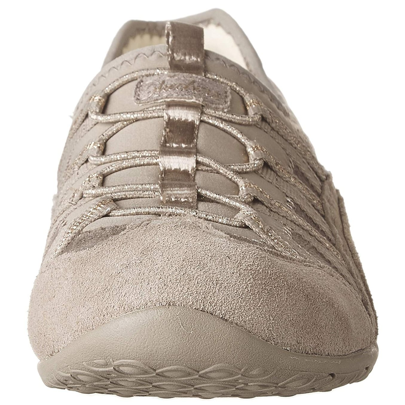 c318587599bc4 Skechers Unity Beaming Womens Slip On Sneakers Taupe/Gold 8.5