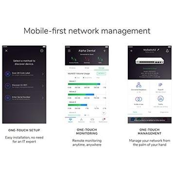 Netgear - Gc110p-100Nas - Vizn 8-Port Gigabit Ethernet Poe App Managed  Smart Cloud Switch With 2 Sfp Fiber Ports