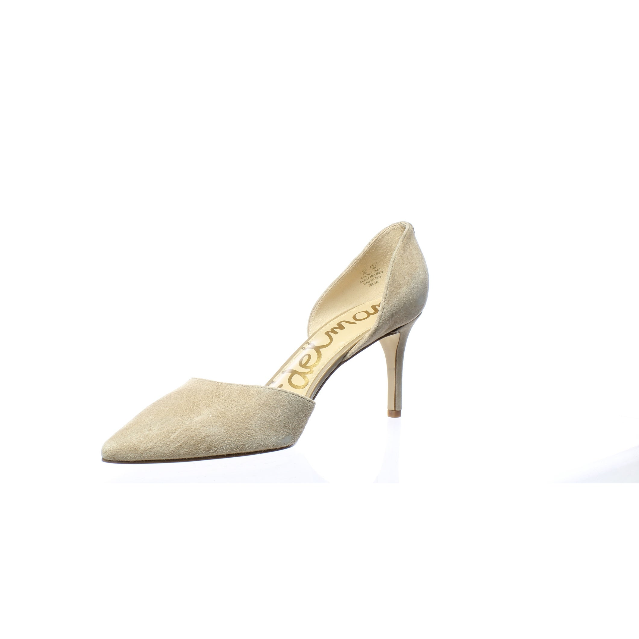 d9431a9d8d Shop Sam Edelman Womens Telsa Oatmeal Suede D'Orsays Size 9 - Free Shipping  Today - Overstock - 27624082