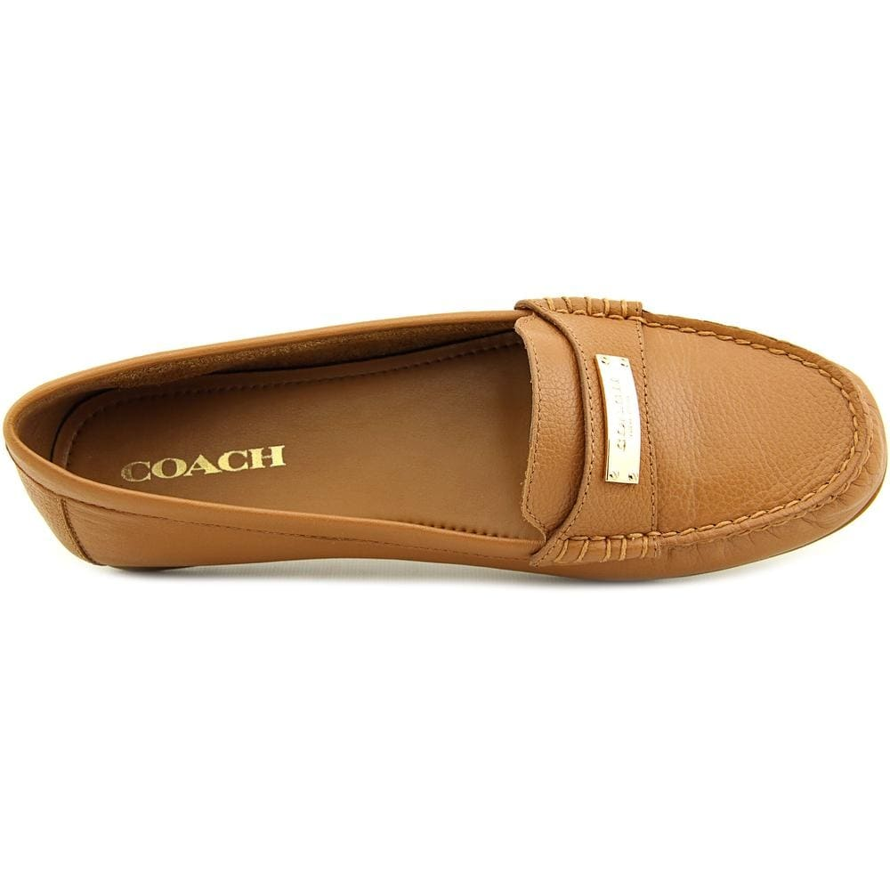 83ef74cc0a3 Shop Coach Fredrica Women Moc Toe Leather Tan Loafer - Ships To Canada -  Overstock - 13574308