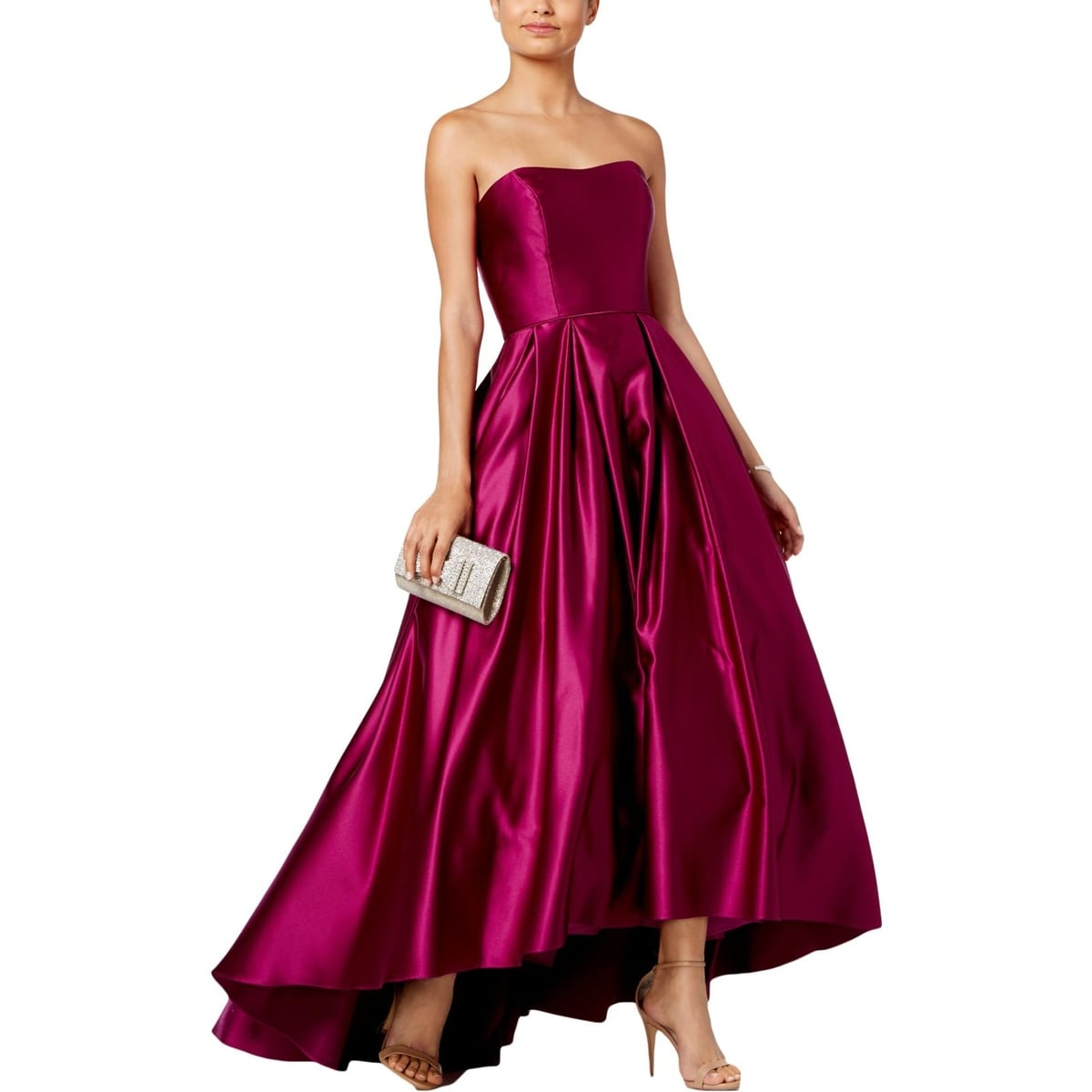 d7fb60af211 Shop Betsy   Adam Womens Evening Dress Hi-Low Strapless - Free ...