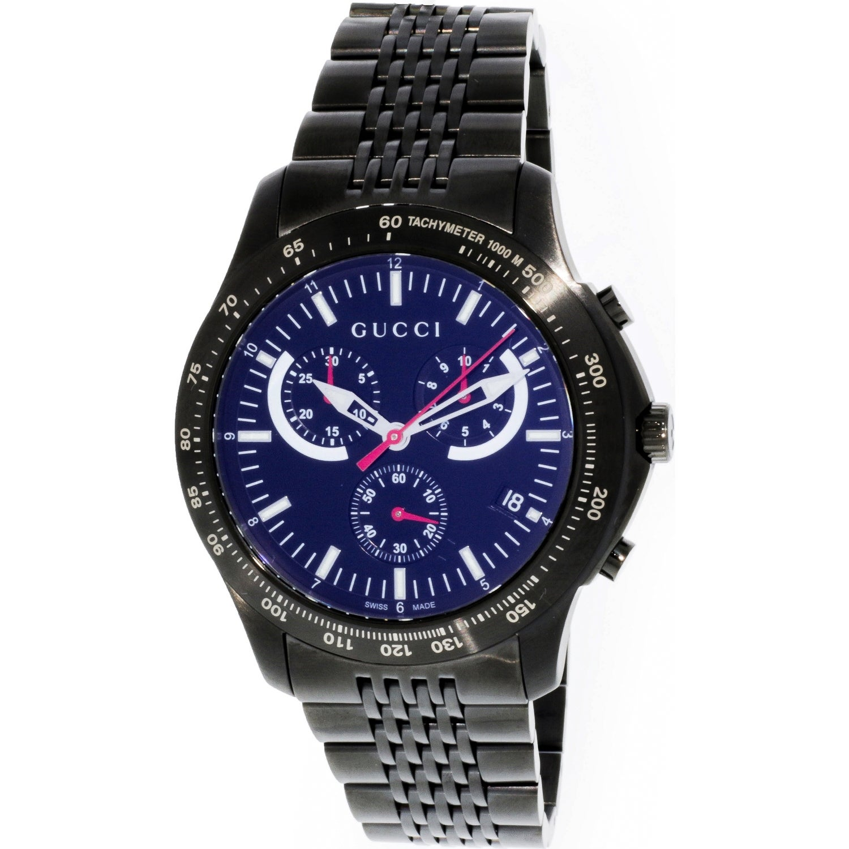 a0bb2b282 Gucci Men s G-Timeless Black Stainless-Steel Swiss Quartz Fashion Watch
