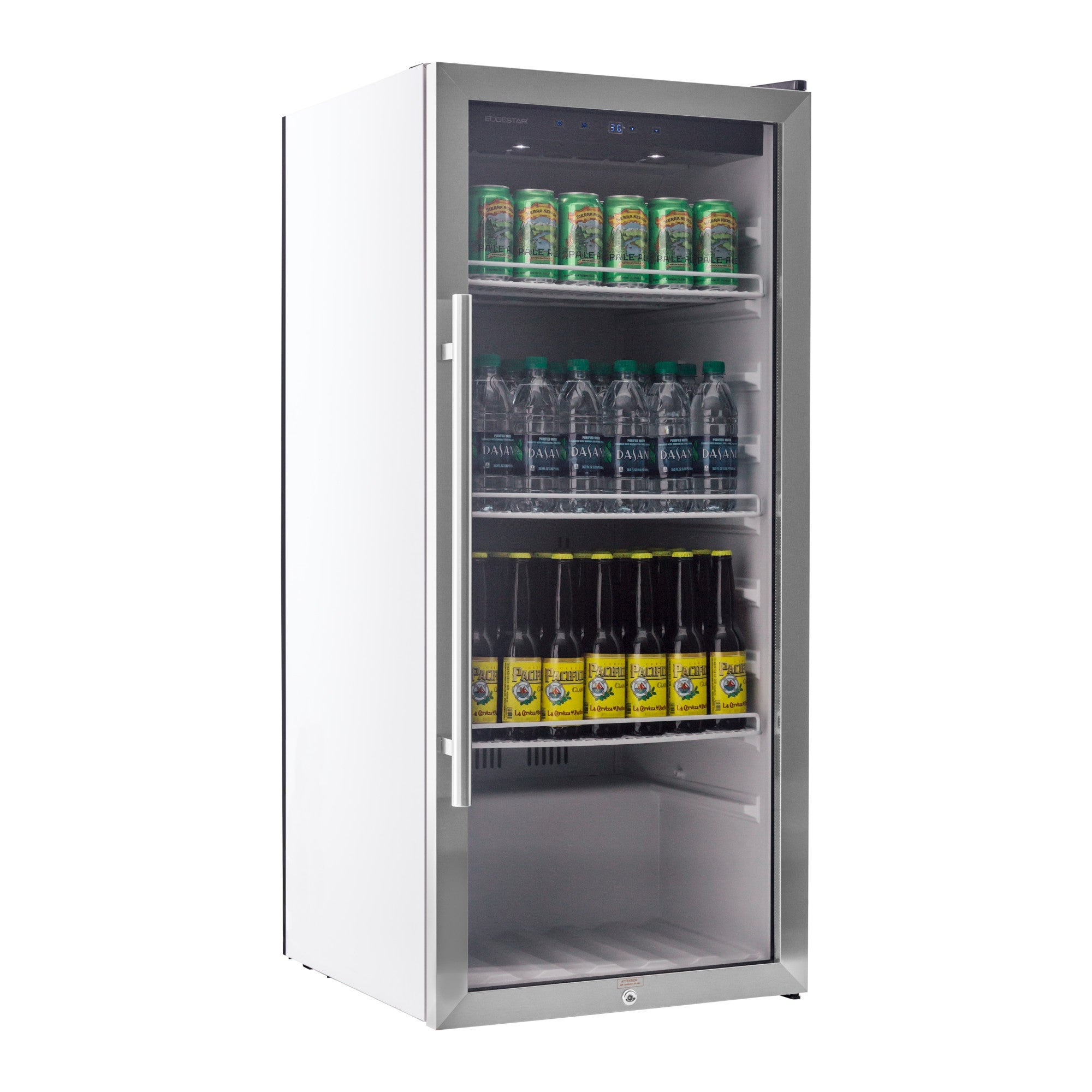 2b4ee345439 Shop EdgeStar VBR240 22in Wide 8.6 Cu. Ft. Commercial Beverage Merchandiser  with Temperature Alarm - Stainless Steel - Free Shipping Today - Overstock  - ...