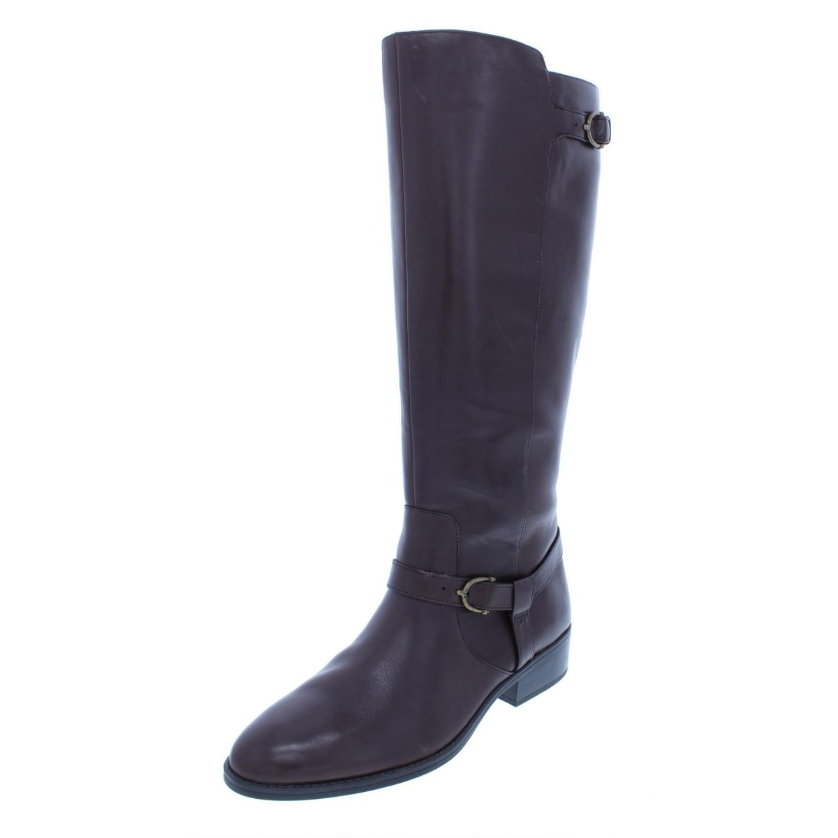 59596f16416 Shop Lauren Ralph Lauren Womens Margarite Riding Boots Leather Wide ...