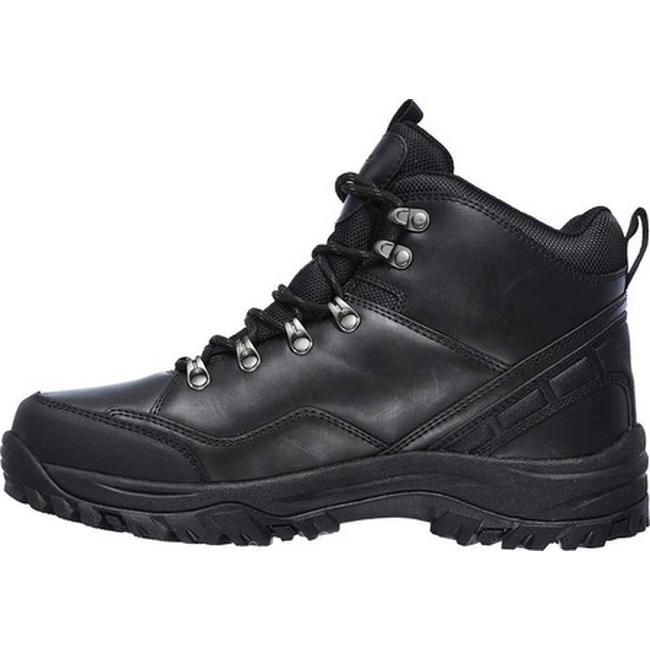 073db725c0252 Shop Skechers Men's Relaxed Fit Relment Traven Hiking Boot Black/Black - On  Sale - Free Shipping Today - Overstock - 19754662