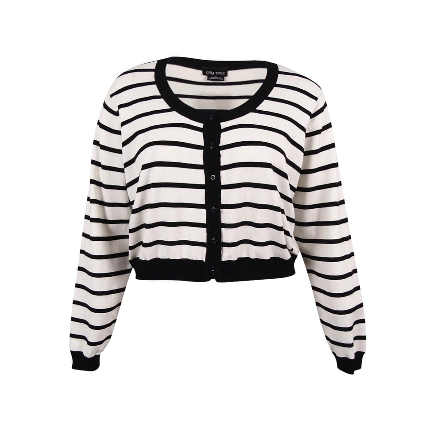 105ec801050 Shop City Chic Women s Plus Size Striped Cropped Cardigan (L