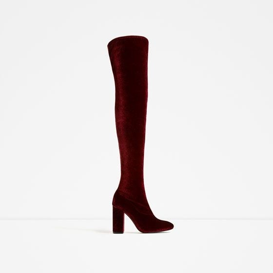 b4d0508ef Shop LFL by Lust for Life Womens Lure Velvet Almond Toe Over Knee Fashion  Boots - 7.5 - Free Shipping On Orders Over $45 - Overstock - 21558312