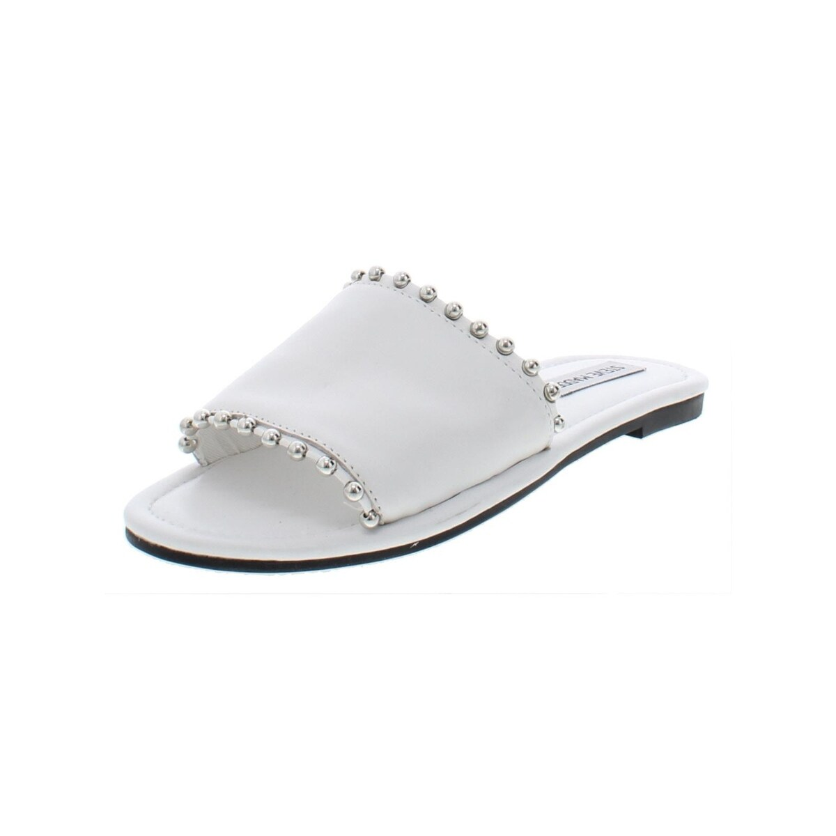 e99ff3ccebb Steve Madden Womens Brew Slide Sandals Leather Studded