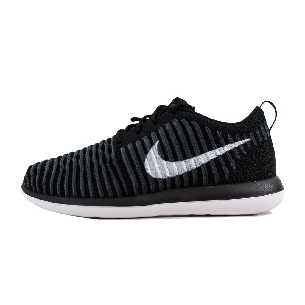 1346951269441 Shop Nike Grade-School Roshe Two Flyknit Black White-Anthracite-Dark Grey  844619-001 Size 5Y - Free Shipping Today - Overstock - 22340441