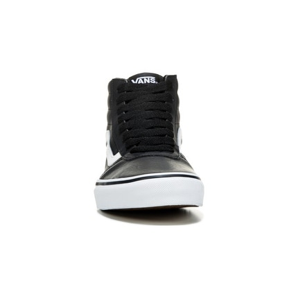 22f4f8b933e8 Shop Vans Men s Ward High Top Leather Sneakers (Black White) - 7.0 M - Free  Shipping Today - Overstock - 15455287