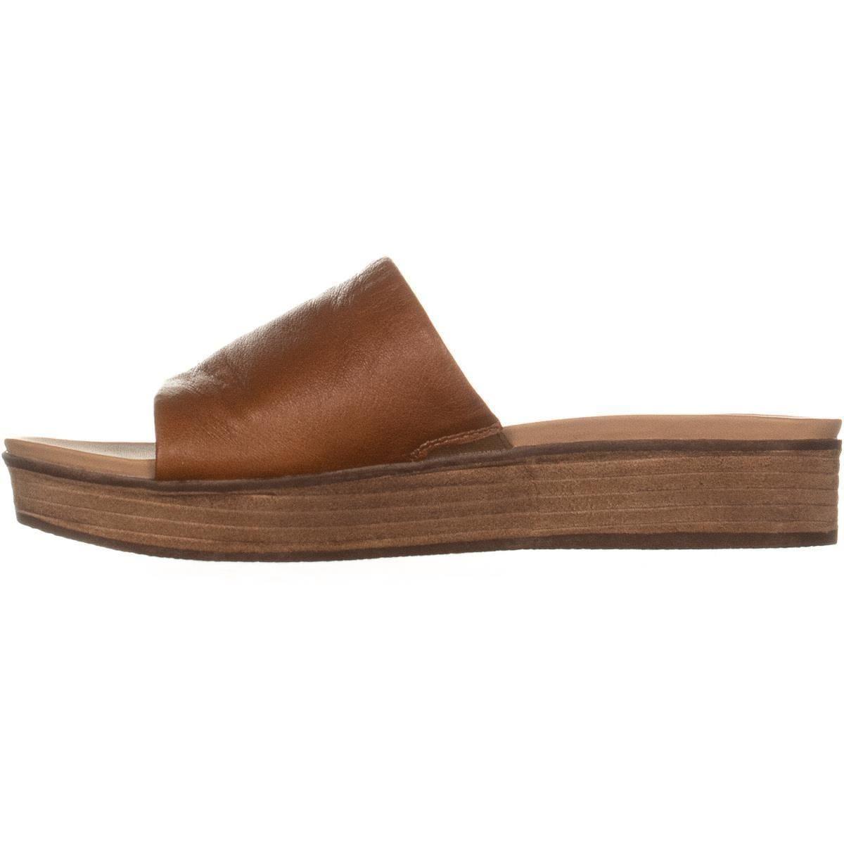 7f2baa43a4 Shop Steve Madden Genca Platform Slide Sandals, Tan Leather - 8.5 US - On  Sale - Free Shipping On Orders Over $45 - Overstock - 25624785