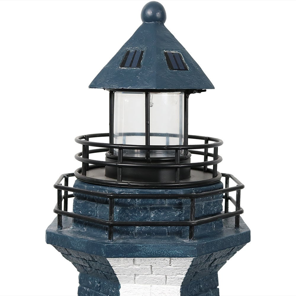 Sunnydaze Solar Striped Led Lighthouse Outdoor Decor 36 Inch Tall Colors Available On Free Shipping Today 15371342