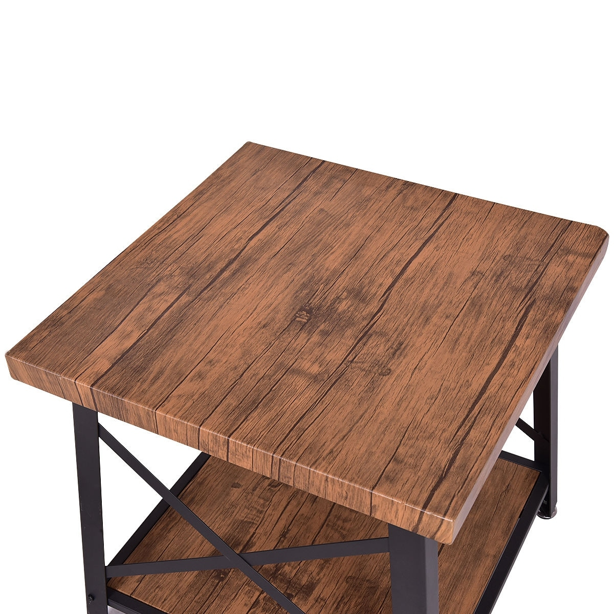 Merveilleux Shop Costway Square Coffee Table Cocktail End Table Metal Frame Wood Top W/  Storage Shelf New   Free Shipping Today   Overstock.com   18522323