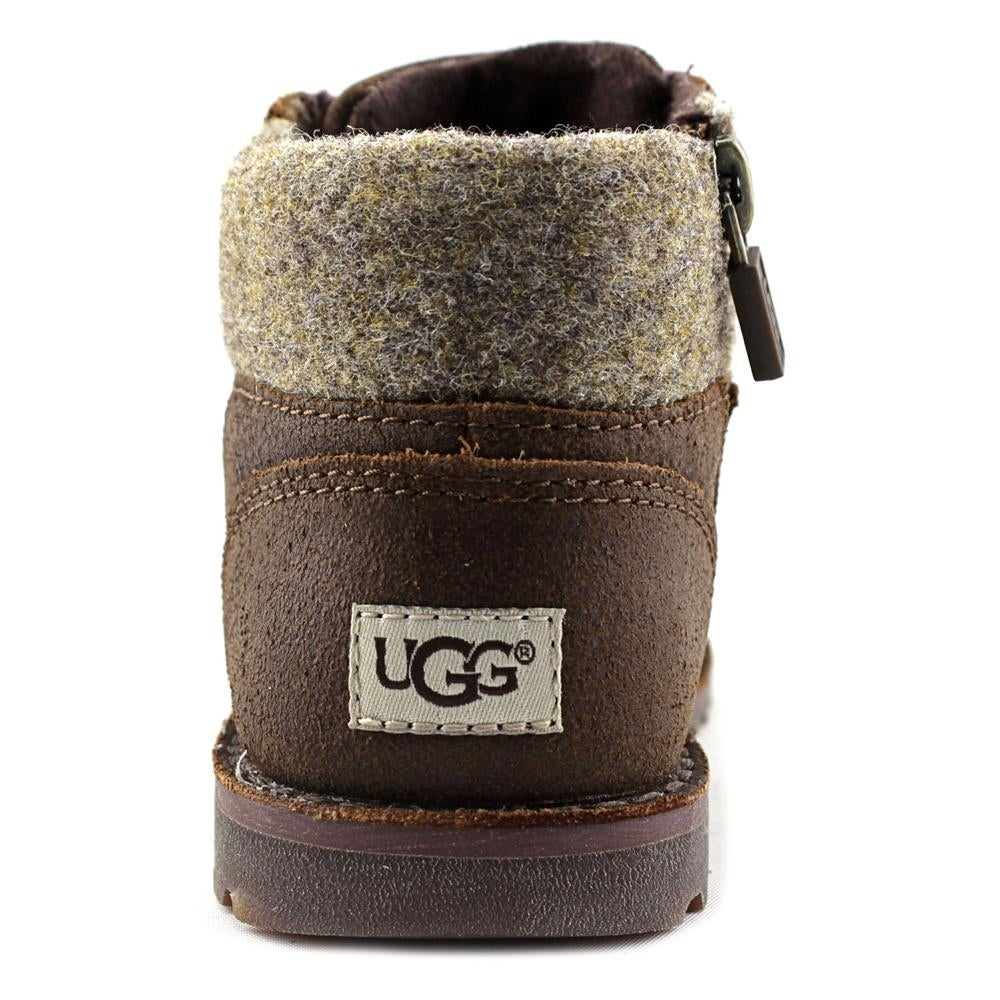 d87285e7771 Ugg Australia Orin Wool Toddler Round Toe Leather Brown Boot