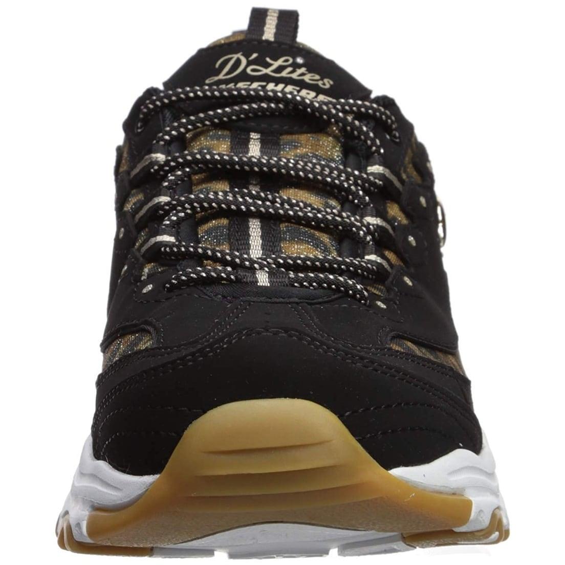 758466e1d39c Shop Skechers Women's D'Lites-Quick Leopard Sneaker - Free Shipping Today -  Overstock - 28358488