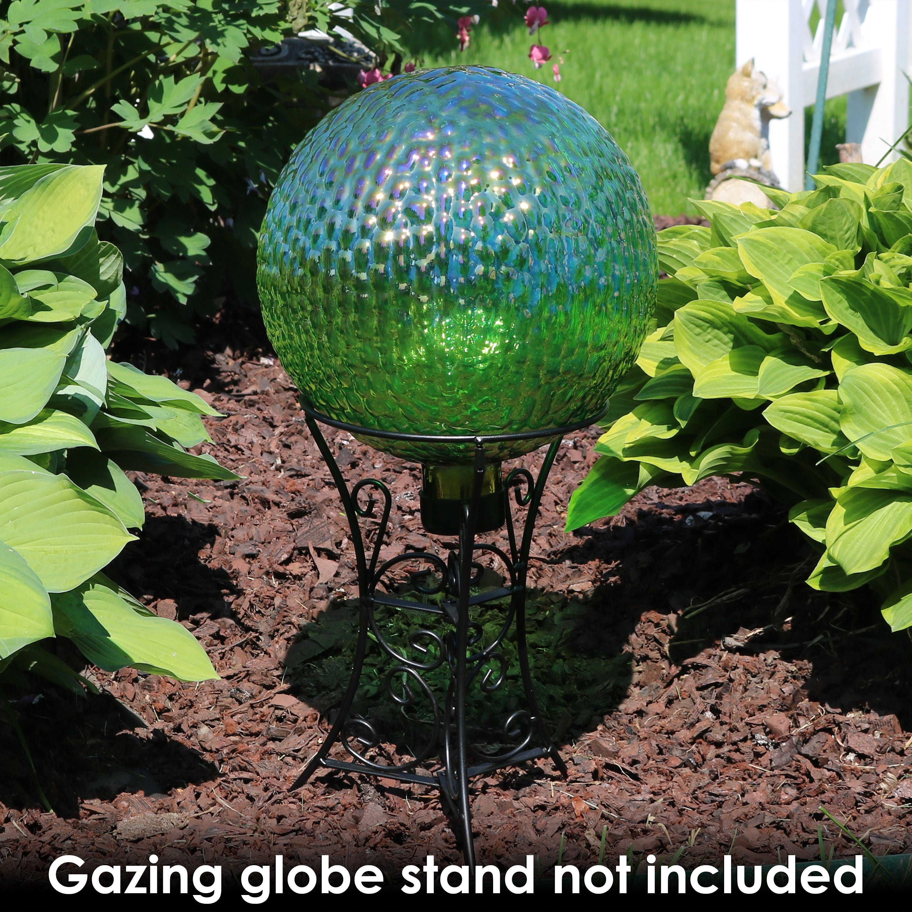 Shop Sunnydaze Green Textured Surface Outdoor Garden Gazing Globe Ball    10 Inch   Free Shipping On Orders Over $45   Overstock.com   21869541