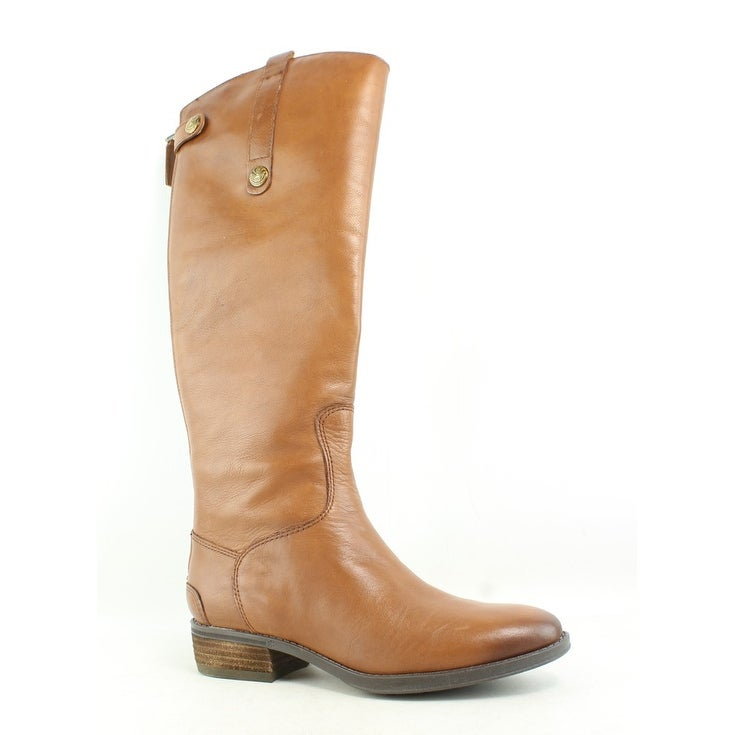 b73b21b4875b Shop Sam Edelman Womens Penny Whiskey Leather Riding Boots Size 5.5 ...