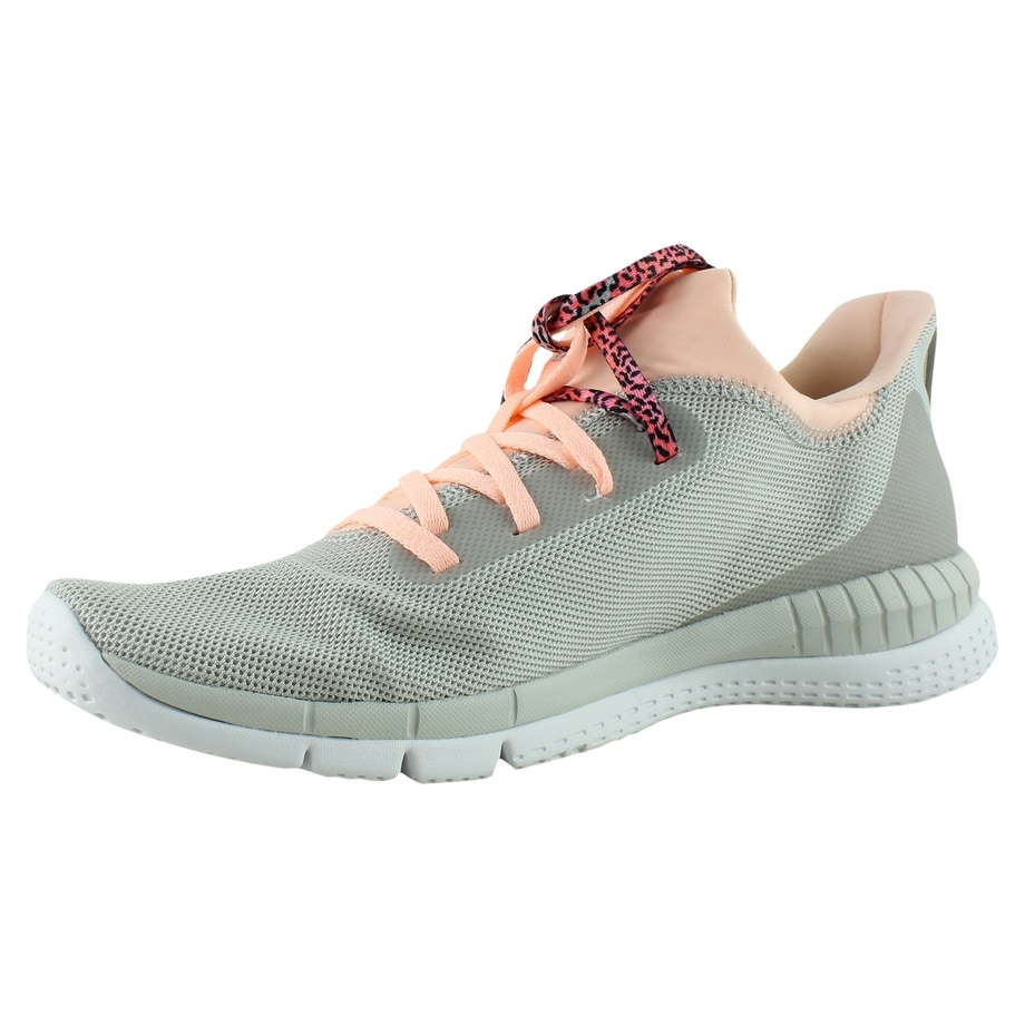 f5dfa12f1bb322 Shop Reebok Womens Bs8542 Gr-SkullGrey PeachTwist White Running Shoes Size  10 - Free Shipping On Orders Over  45 - Overstock - 23123915
