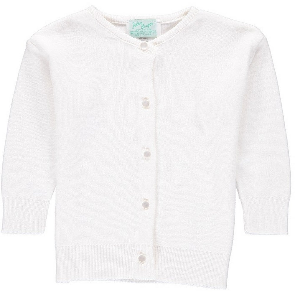Shop Julius Berger Little Girls White Cotton Cashmere Waist Length
