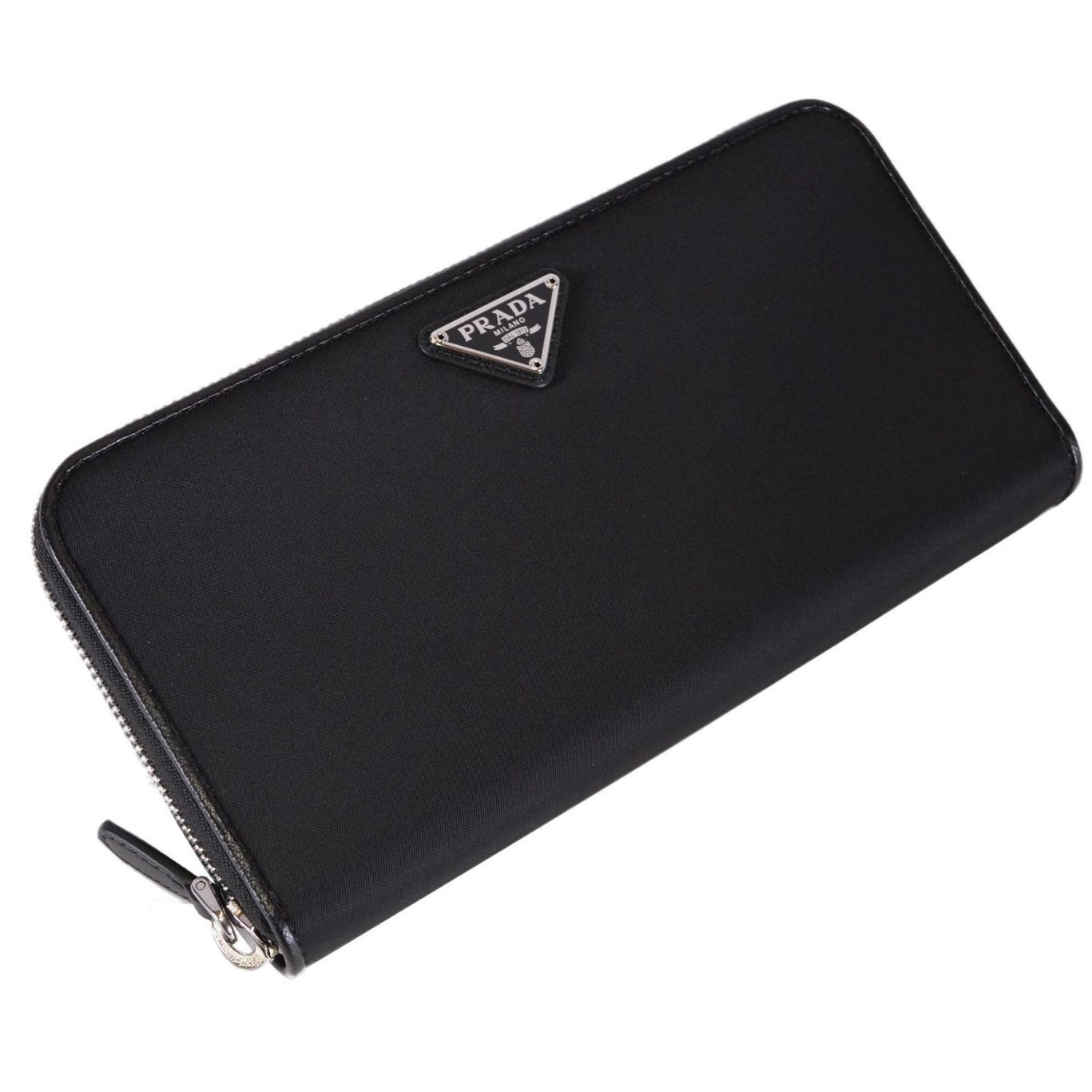 8c9740696891b2 Shop Prada Women's 1ML506 UZO Black Nylon Zip Around Wallet Clutch - 8