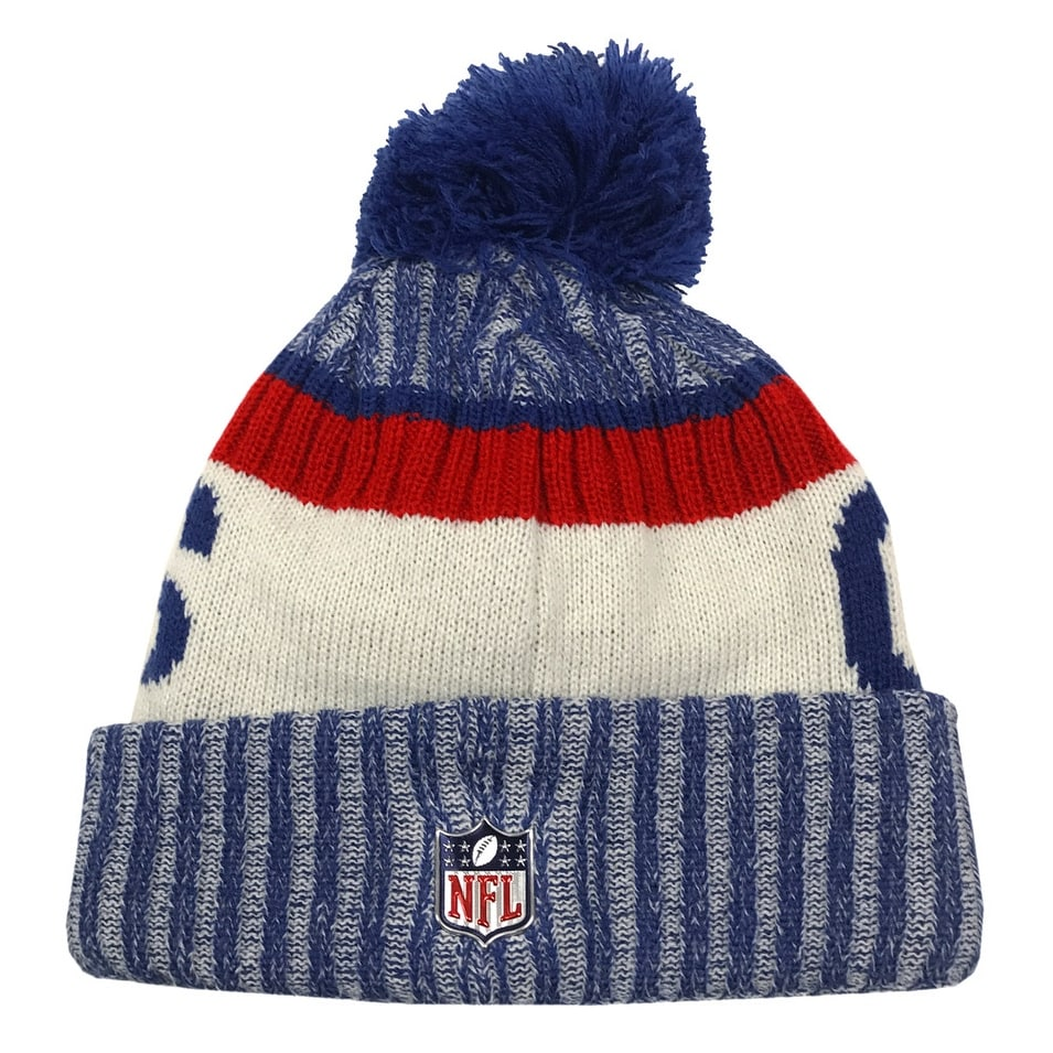 new product 2a20c aa2bb Shop New Era New York Giants Knit Beanie Cap Hat NFL 2017 On Field Sideline  11460388 - Free Shipping On Orders Over  45 - Overstock - 17743870