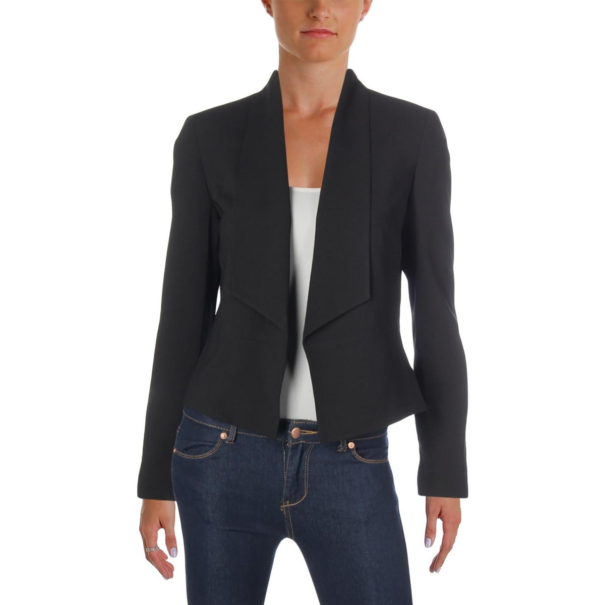 8e60a94743b Shop Nine West Womens Open-Front Blazer Shawl Collar Work Wear - Free  Shipping On Orders Over  45 - Overstock - 25697018
