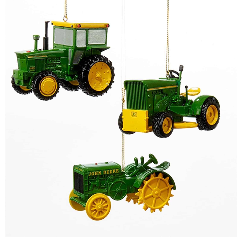 Shop John Deere Tractors Farm Equipment Christmas Holiday Ornaments ...