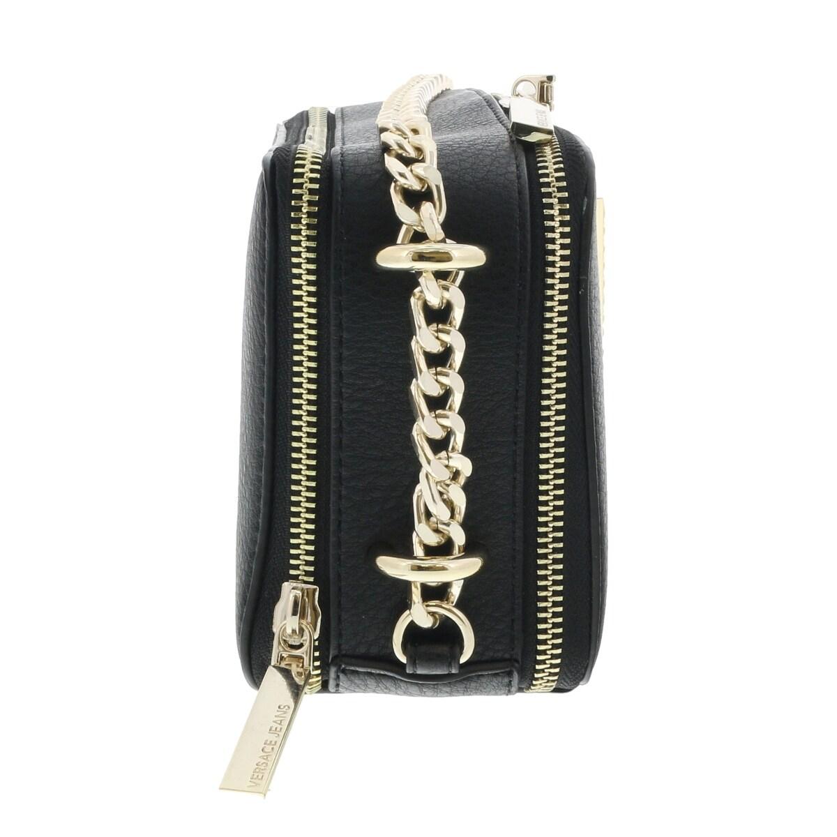 c1827beb49 Shop Versace EE1VRBBC2 Black Shoulder Bag - 8-5-4 - On Sale - Free Shipping  Today - Overstock - 20223849