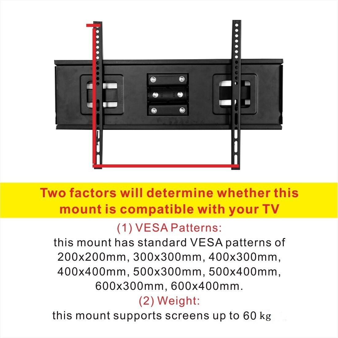 Shop Fleximounts Curved TV Wall Mount Bracket for 32-65 inch Curved ...