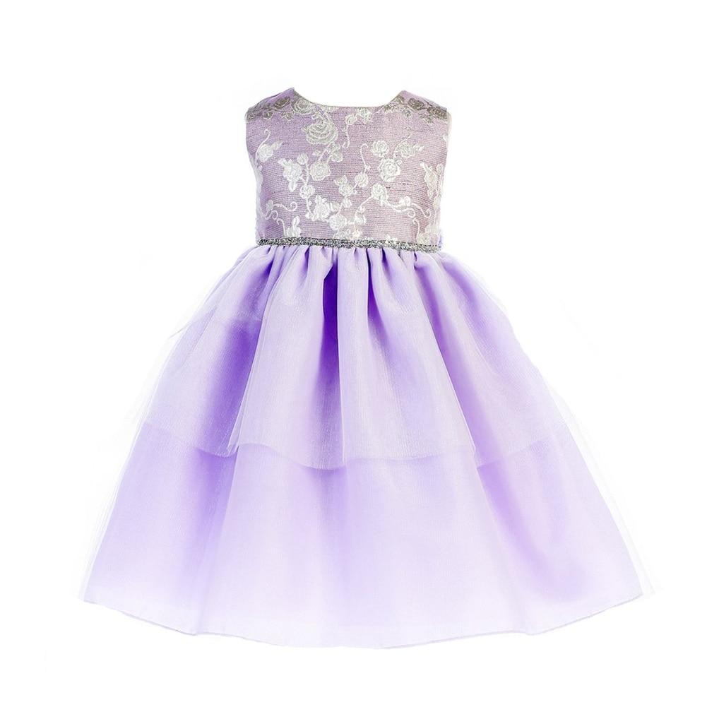 2b882940 Shop Crayon Kids Little Girls Lilac Sparkle Waist Easter Flower Girl Dress  - Free Shipping Today - Overstock - 20103271
