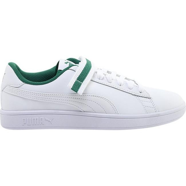 a91637af4fe3 Shop PUMA Men s Smash V2 V Fresh Sneaker Puma White Puma White Amazon Green  - Free Shipping Today - Overstock - 25577549
