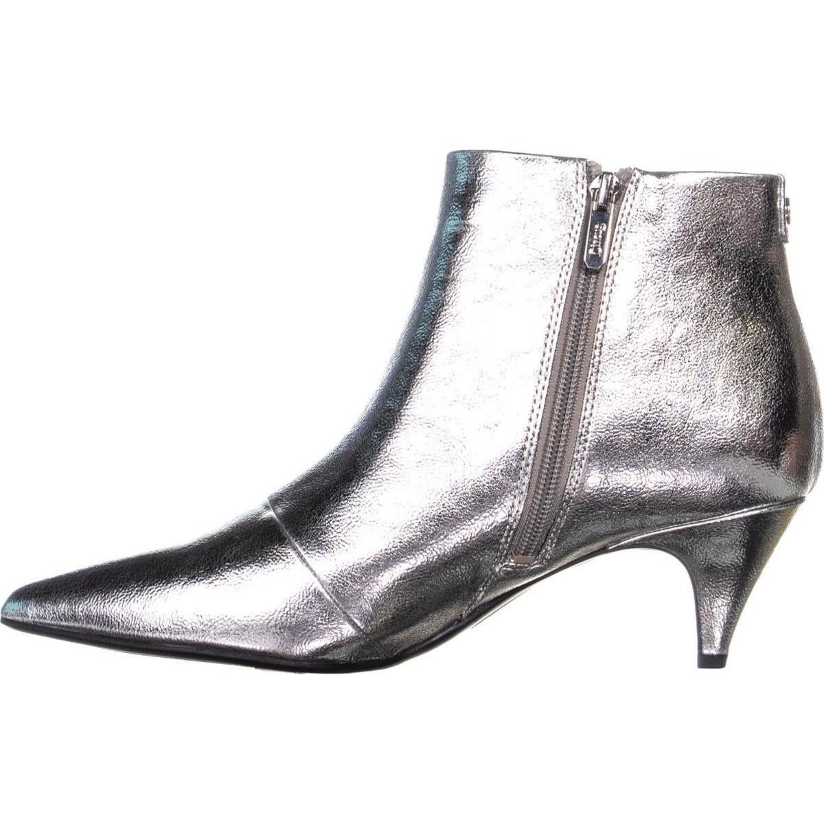 3b5aabb842 Shop Circus Sam Edelman Kirby Kitten Heel Ankle Boots, Soft Silver - Free  Shipping On Orders Over $45 - Overstock - 24218704