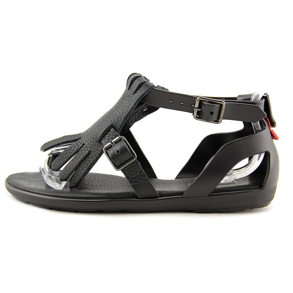 49f976f3c8fc Hunter Original T-Bar Sandal Women Open Toe Synthetic Black Thong Sandal -  Free Shipping Today - Overstock - 22486373