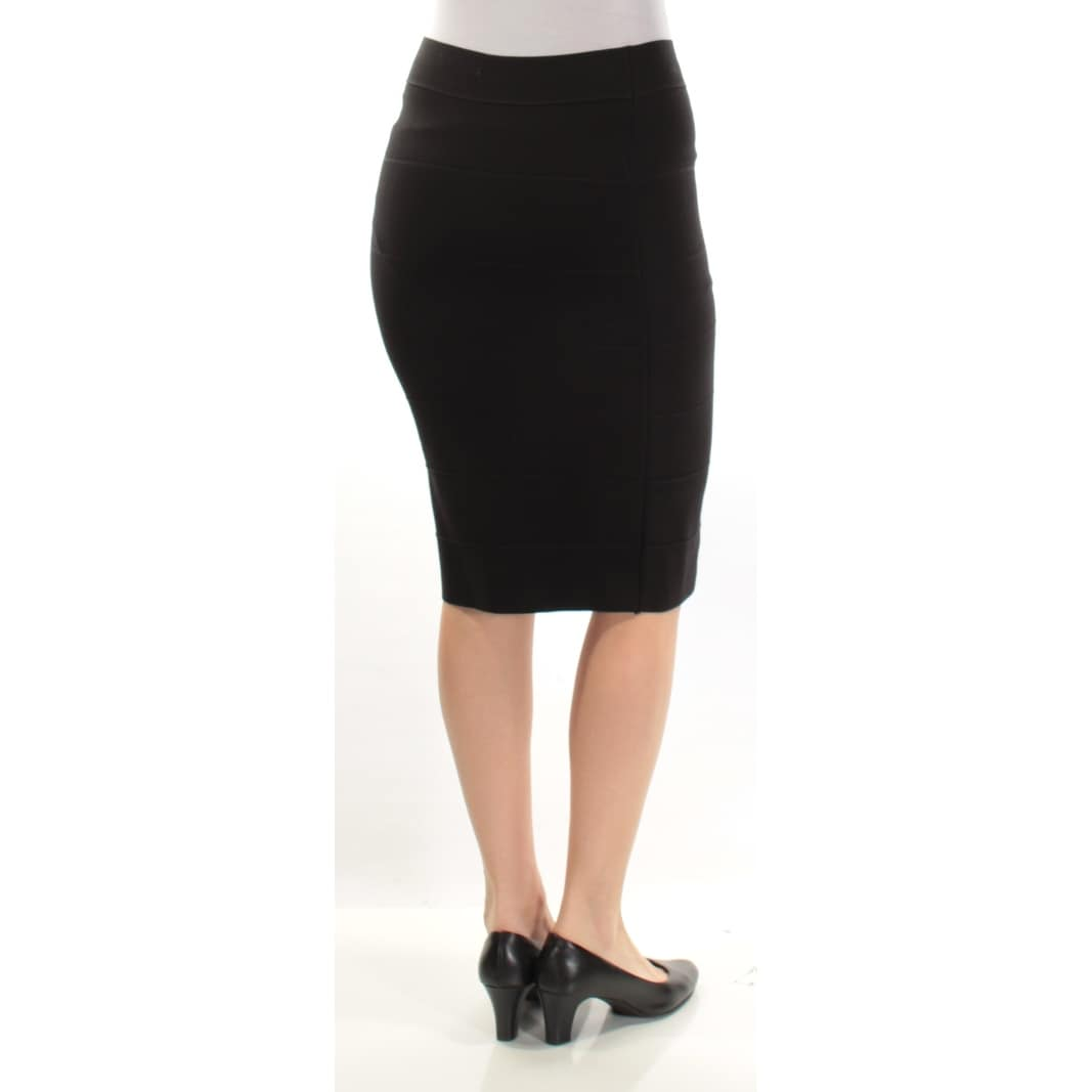 c9d53dbc7aec5e Shop Womens Black Below The Knee Pencil Wear To Work Skirt Size S - Free  Shipping On Orders Over $45 - Overstock - 21367931