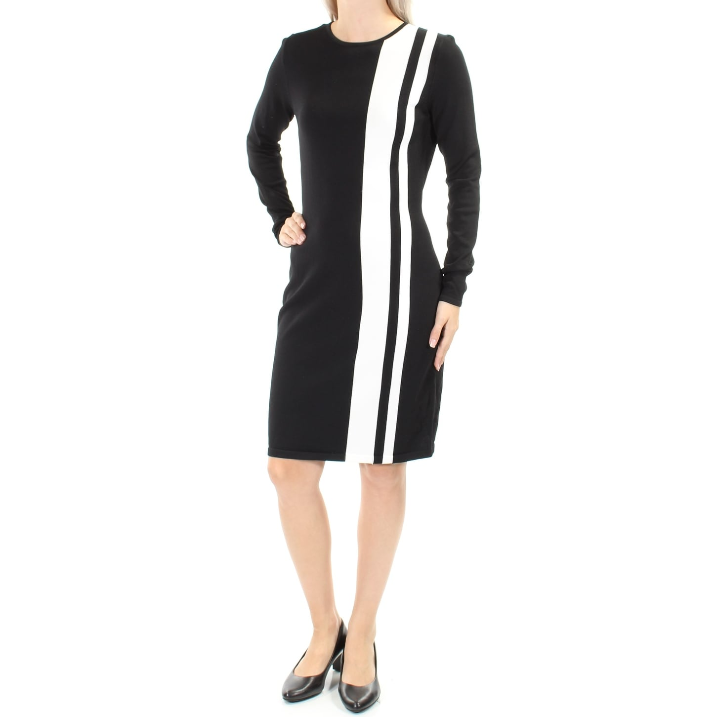 05508d7a1608 Shop Womens Black Long Sleeve Above The Knee Body Con Dress Size: L - Free  Shipping On Orders Over $45 - Overstock.com - 22433250