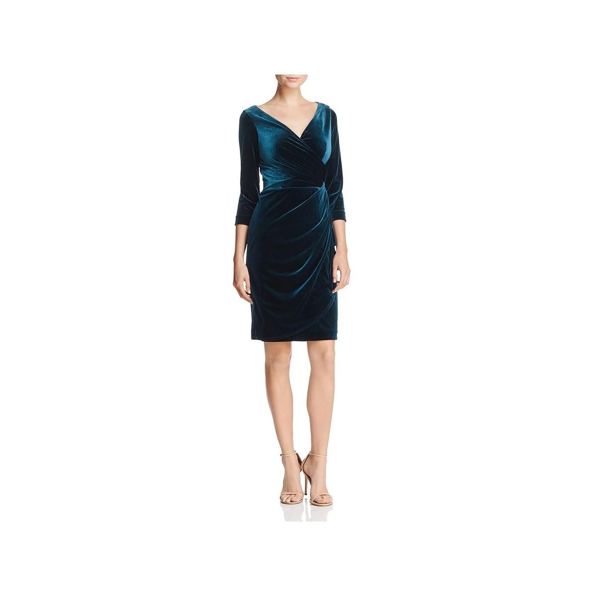 Shop Betsey Johnson Womens Cocktail Dress Velvet Knee-Length - Free  Shipping On Orders Over  45 - Overstock.com - 22901491 27c552e65