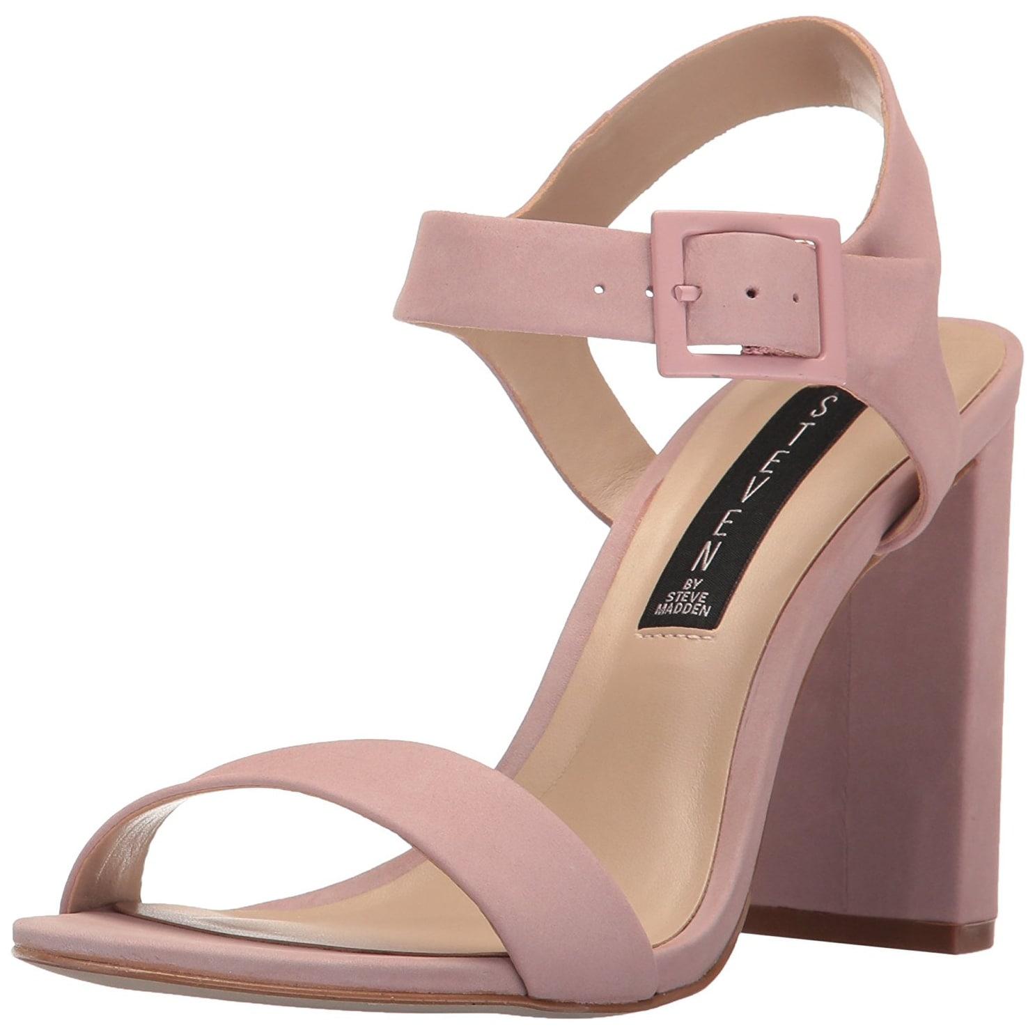STEVEN by Steve Madden Womens Eisla NuBuck Open Toe Pink Nubuck Size 90