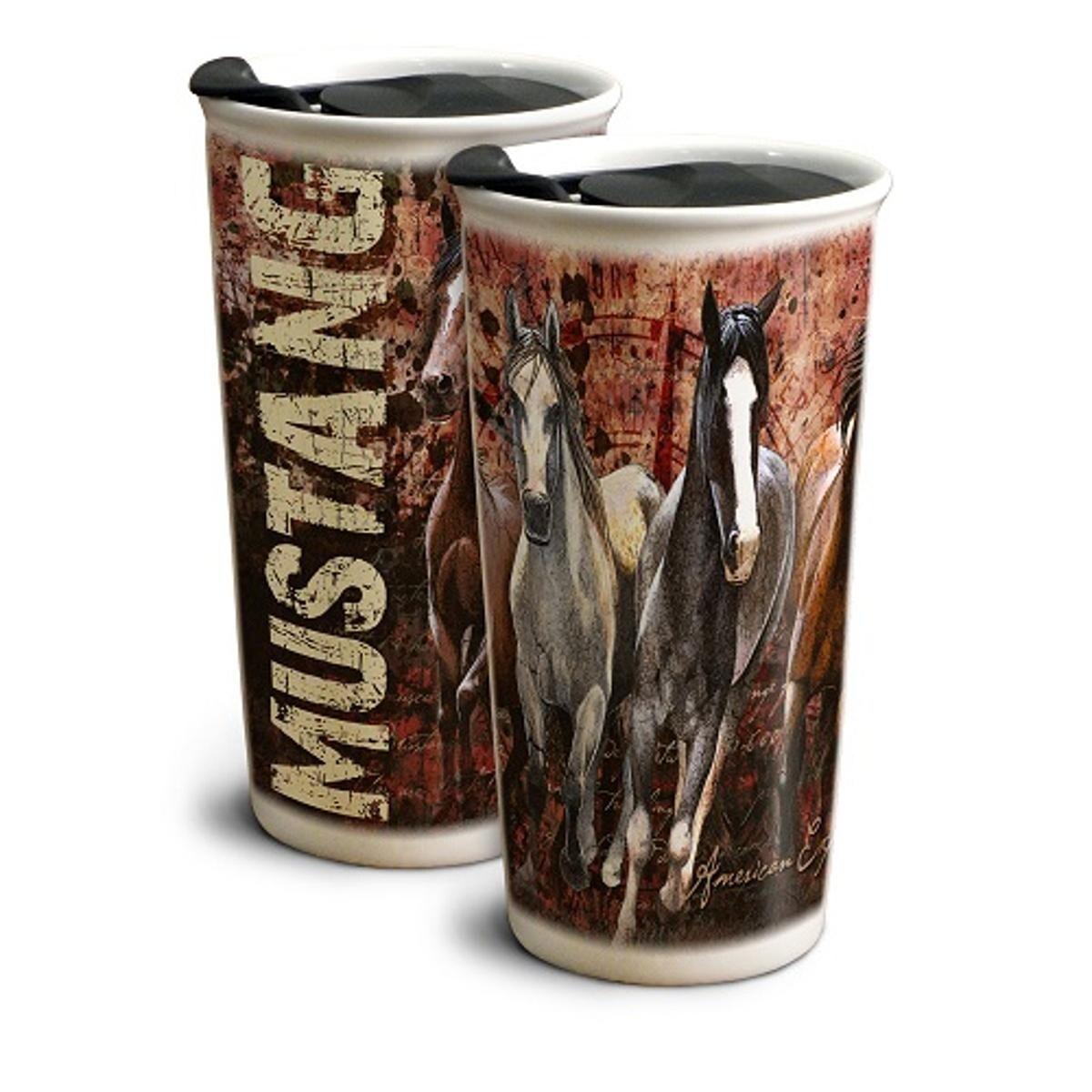 b87796e0e3e Shop American Expedition Mustang 12 oz. Ceramic Travel Mug - GCTM-110 -  Free Shipping On Orders Over $45 - Overstock.com - 17320065