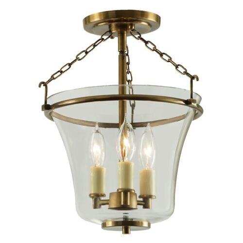 Jvi Designs 1182 Greenwich 3 Light Semi Flush Ceiling Fixture Free Shipping Today 13012597