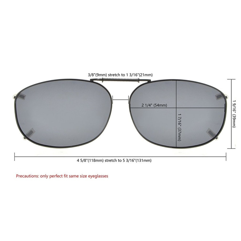 fe01f2ef5c Shop Eyekepper Metal Frame Rim Polarized Lens Clip On Sunglasses 54x37MM  Brown Lens - One size - Free Shipping On Orders Over  45 - Overstock.com -  17780889
