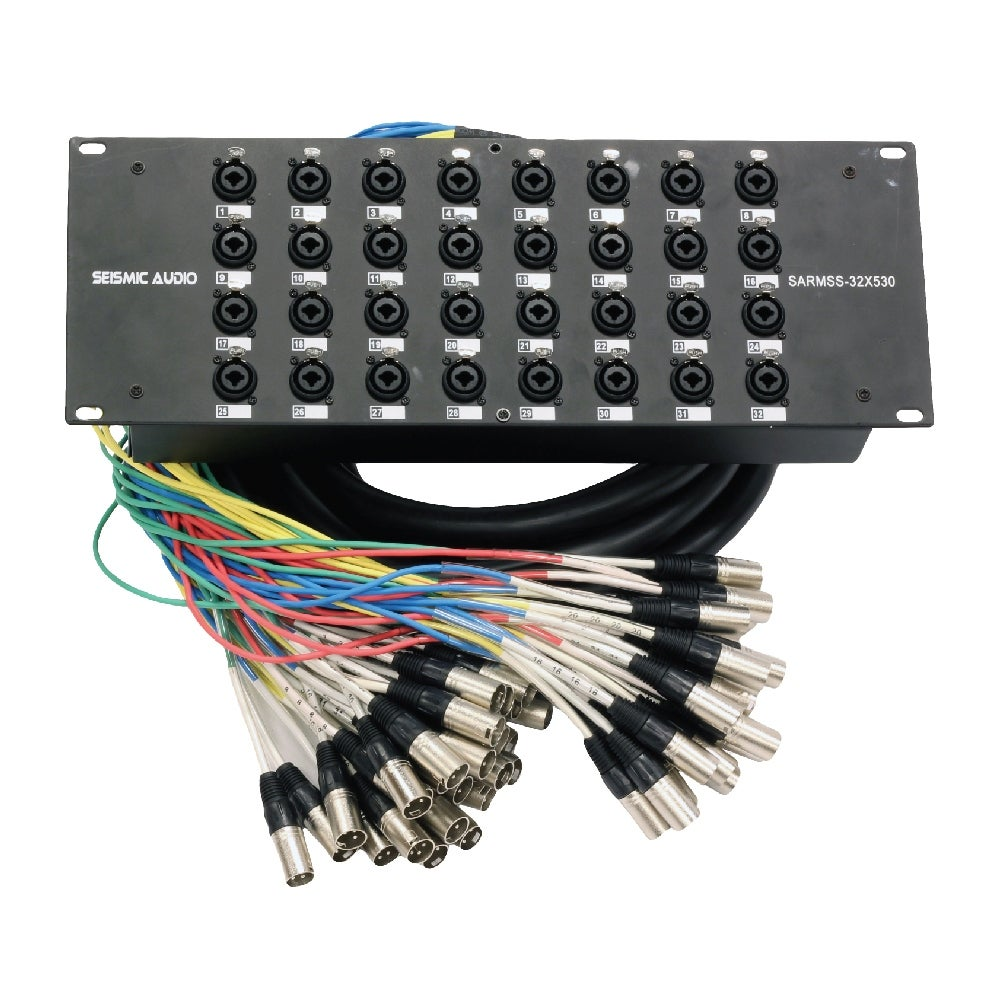 Shop Seismic Audio Rack Mount 32 Channel XLR TRS Combo Splitter ...