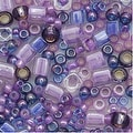 Toho Multi-Shape Glass Beads 'Kawaii' Purple/Blue Color Mix 8 Gram Tube