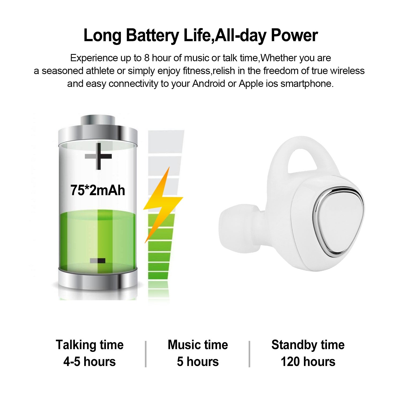 497ac841a4b Shop AGPtek Mini TWS Twins True Wireless In-Ear Stereo Bluetooth Earphones  Earbuds Headset-White - SIZE - Free Shipping On Orders Over $45 - Overstock  - ...