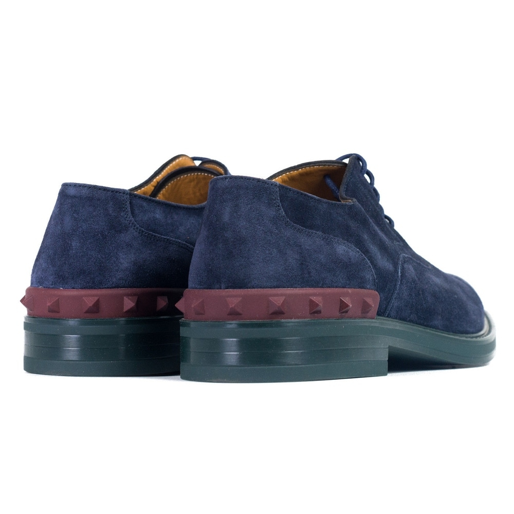 ea20d007f4c0a Shop Valentino Garavani Mens Blue Suede Lace Up Shoes Oxfords - Free  Shipping Today - Overstock - 21906372